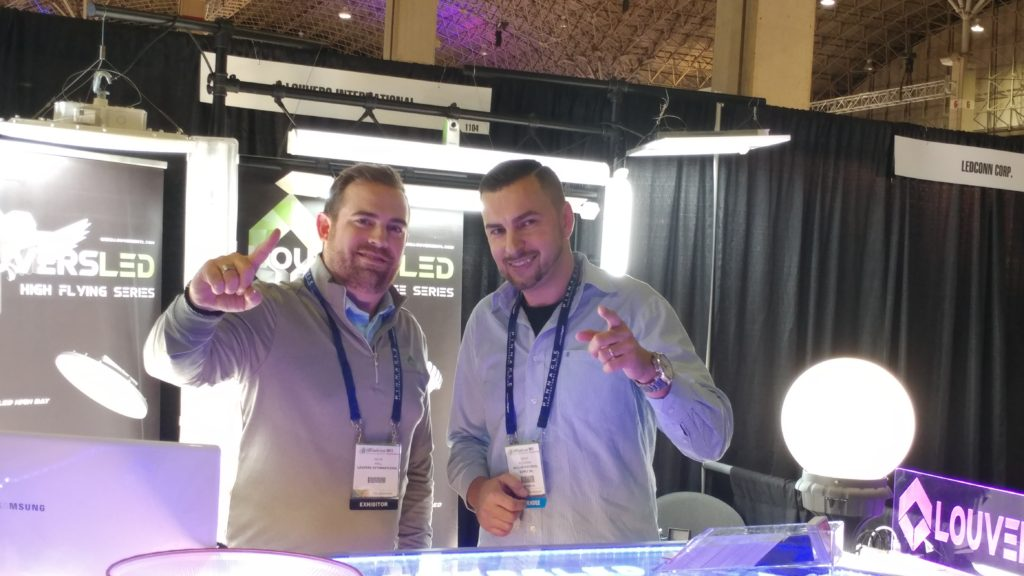 Louvers International booth at the LED Summit