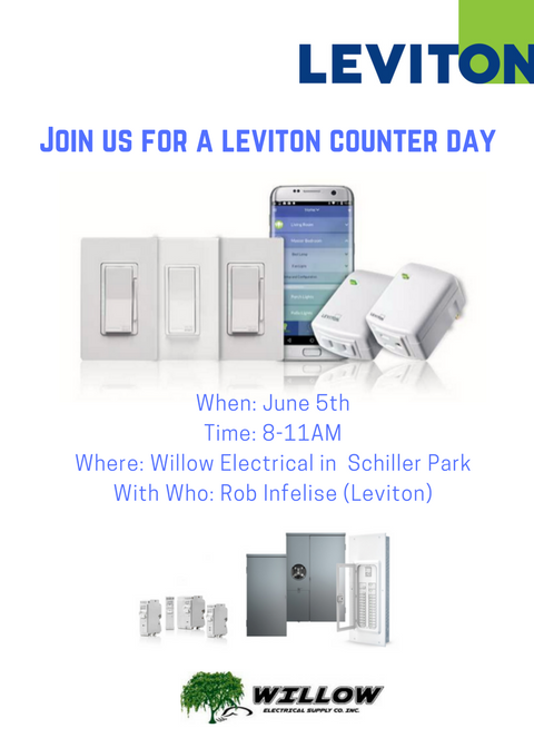 Leviton Counter Day at Willow Electrical Supply in Schiller Park