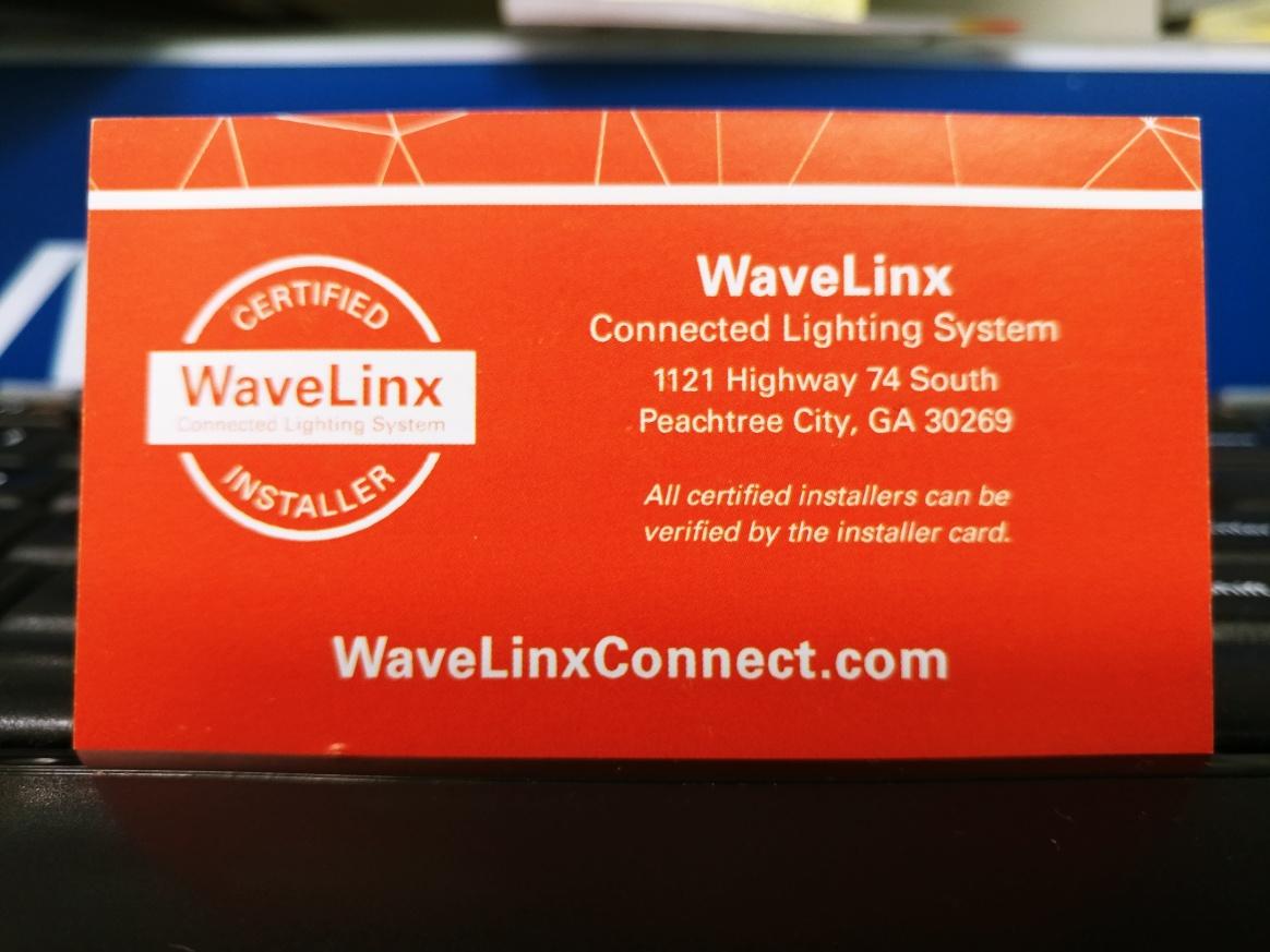 Wavelinx Certified Installer Card