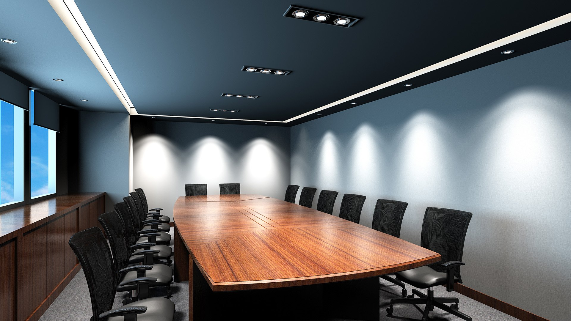 Conference room lighting Willow Electrical
